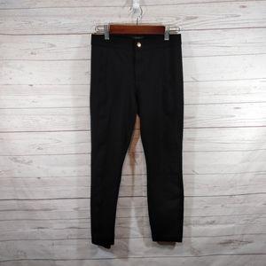 J Crew Pixie black ponte thick knit pants size 2S